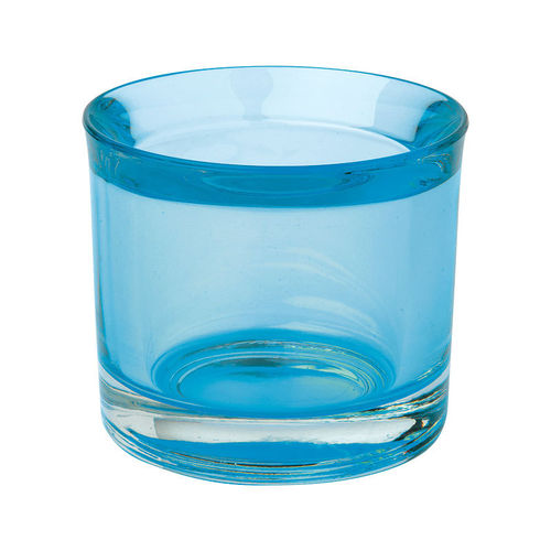 Teelichthalter neu Glas, light blue, Ideal Home Range IHR