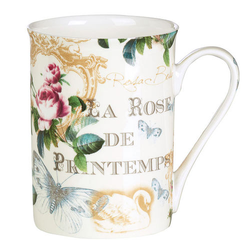 "Bone China Becher ""Rose de Printemps"", Ideal Home Range IHR"