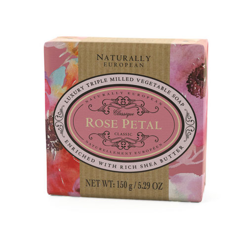 """Rose Petal"" Seife, Naturally European 150g, The Somerset Toiletry Company"