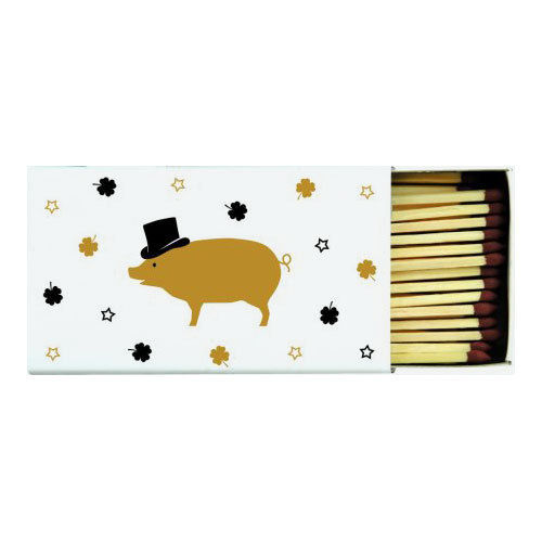 "Streichholzschachtel ""Mr Pig"" gold, Ideal Home Range IHR"