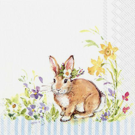 "Lunch-Servietten ""Lovely Bunny light blue"", Ideal Home Range IHR"