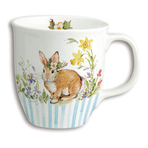 "Bone China Becher ""Lovely Bunny light blue"", Ideal Home Range IHR"