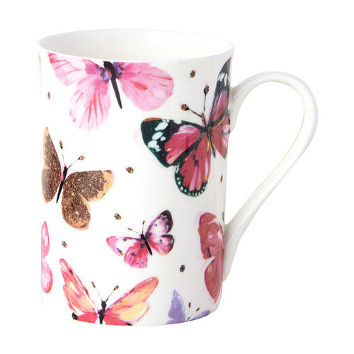 "Bone China Becher ""Nathalie pink"",  Ideal Home Range IHR"
