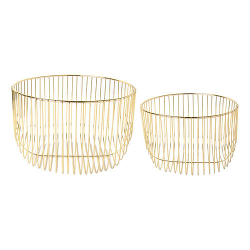 Eisenkörbe goldfarben 2er Set, Ideal Home Range IHR